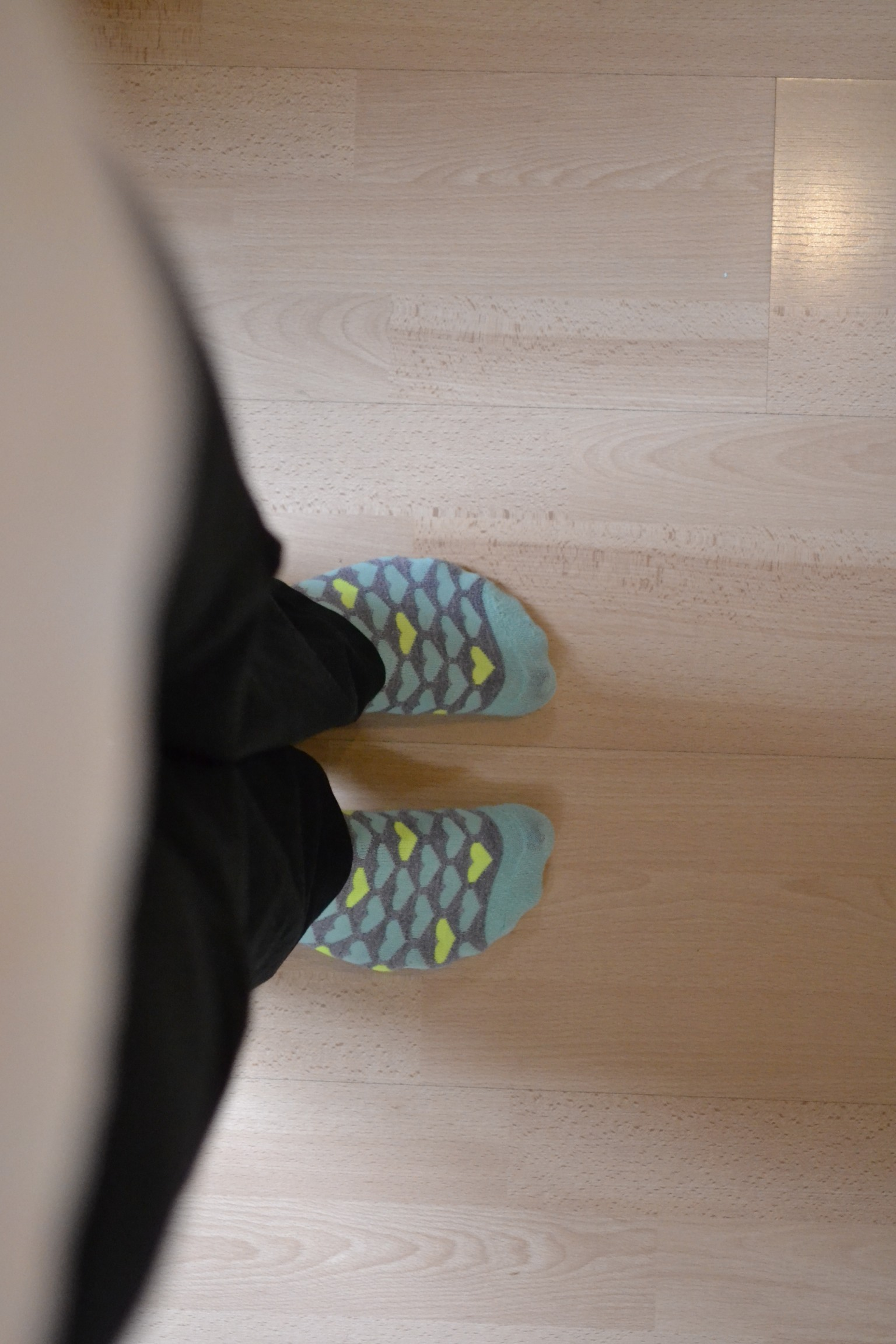 i hate wearing socks in the house but if i really have to, fun socks are best.