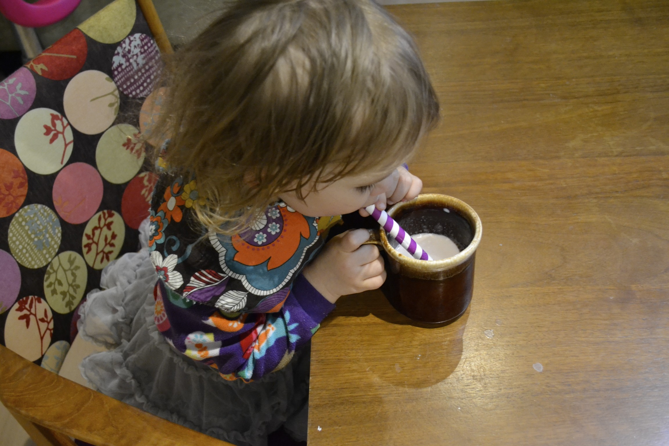 hot cocoa with stripy straws is always a good choice