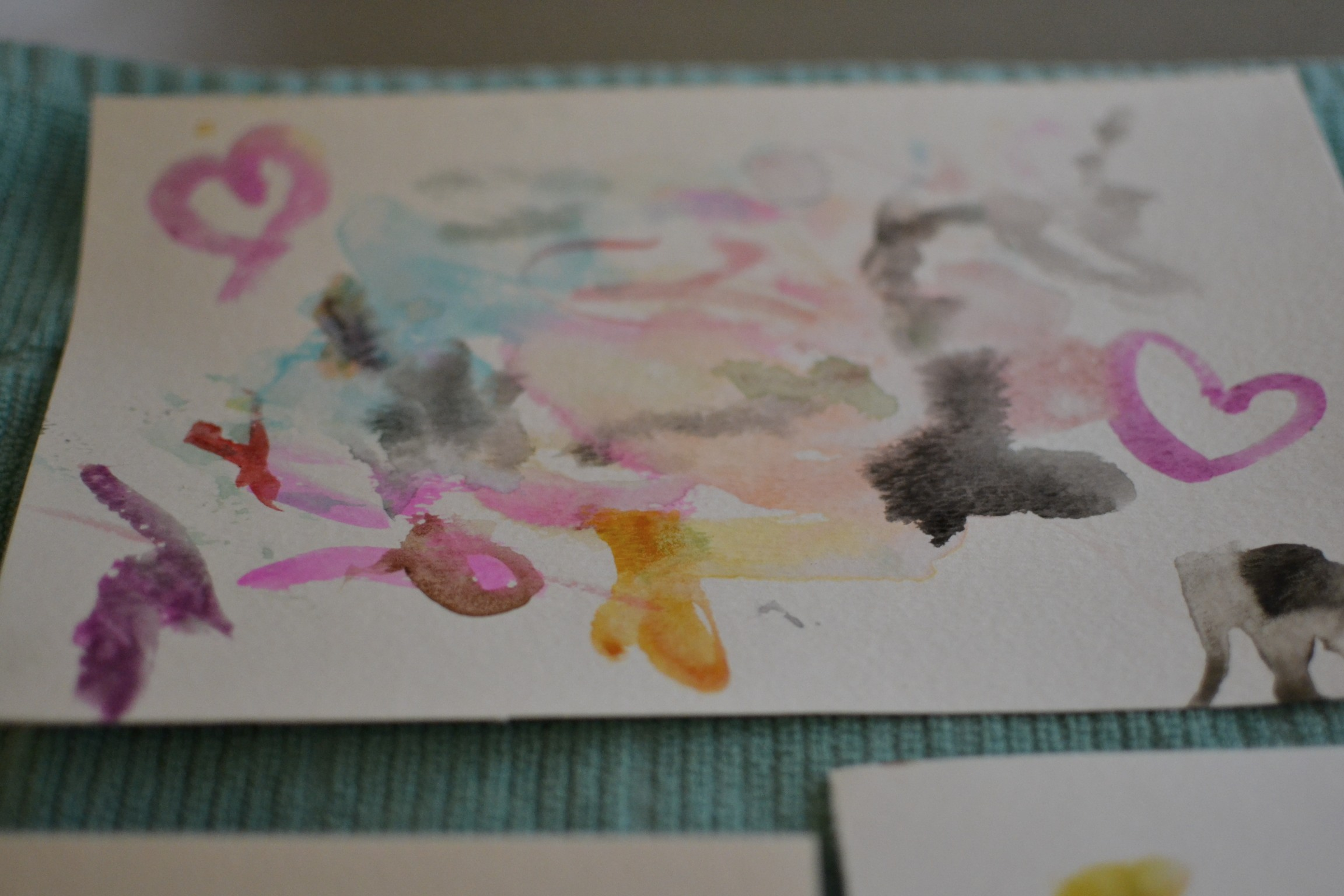 we've been doing lots of water coloring lately.