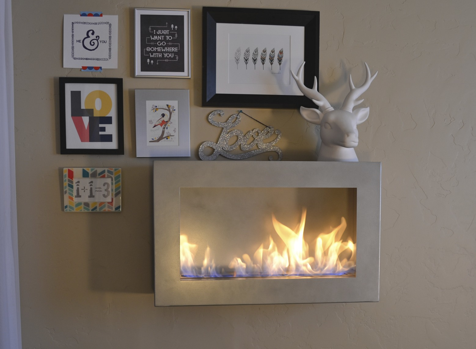 Brasa fireplace, included.