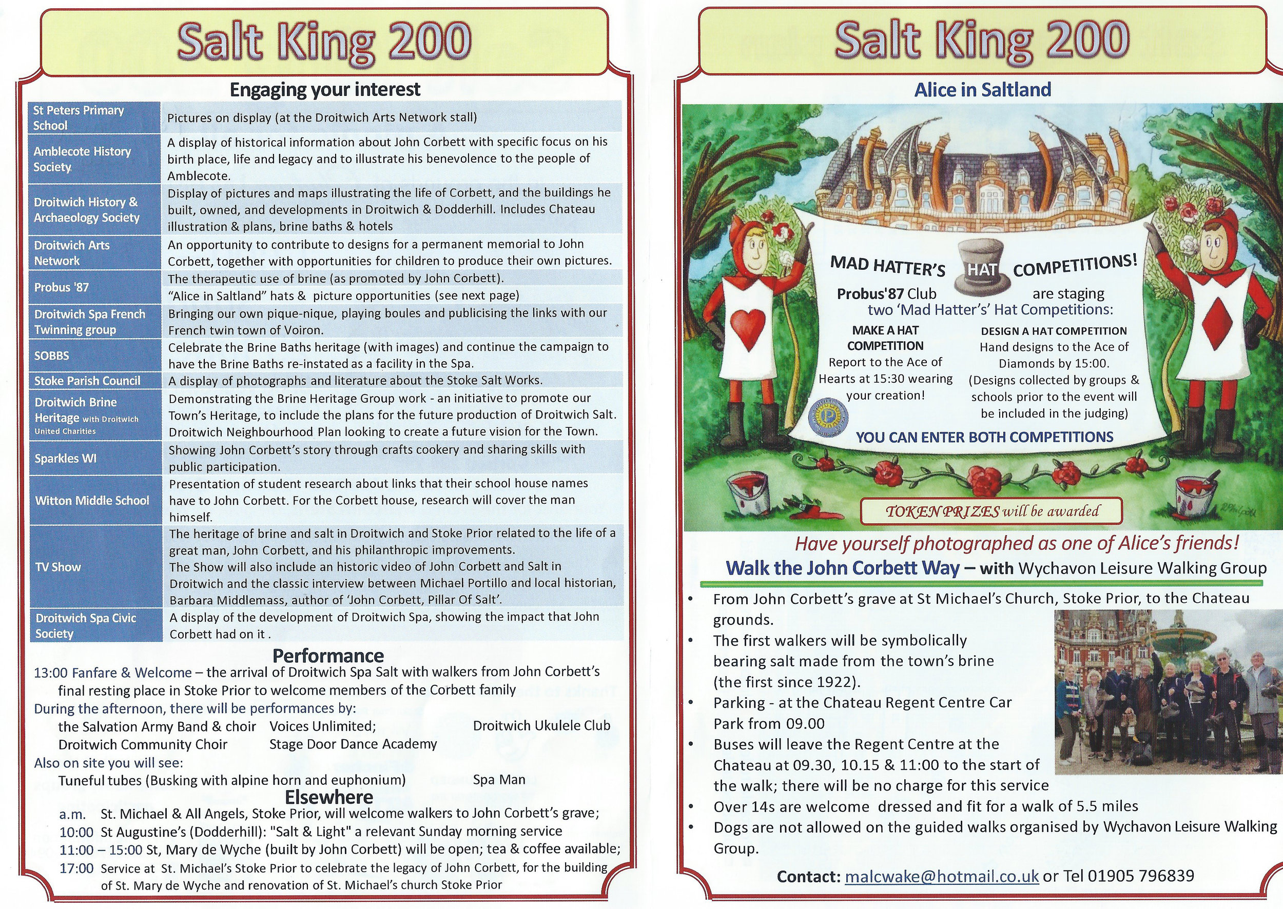 Programme of Events