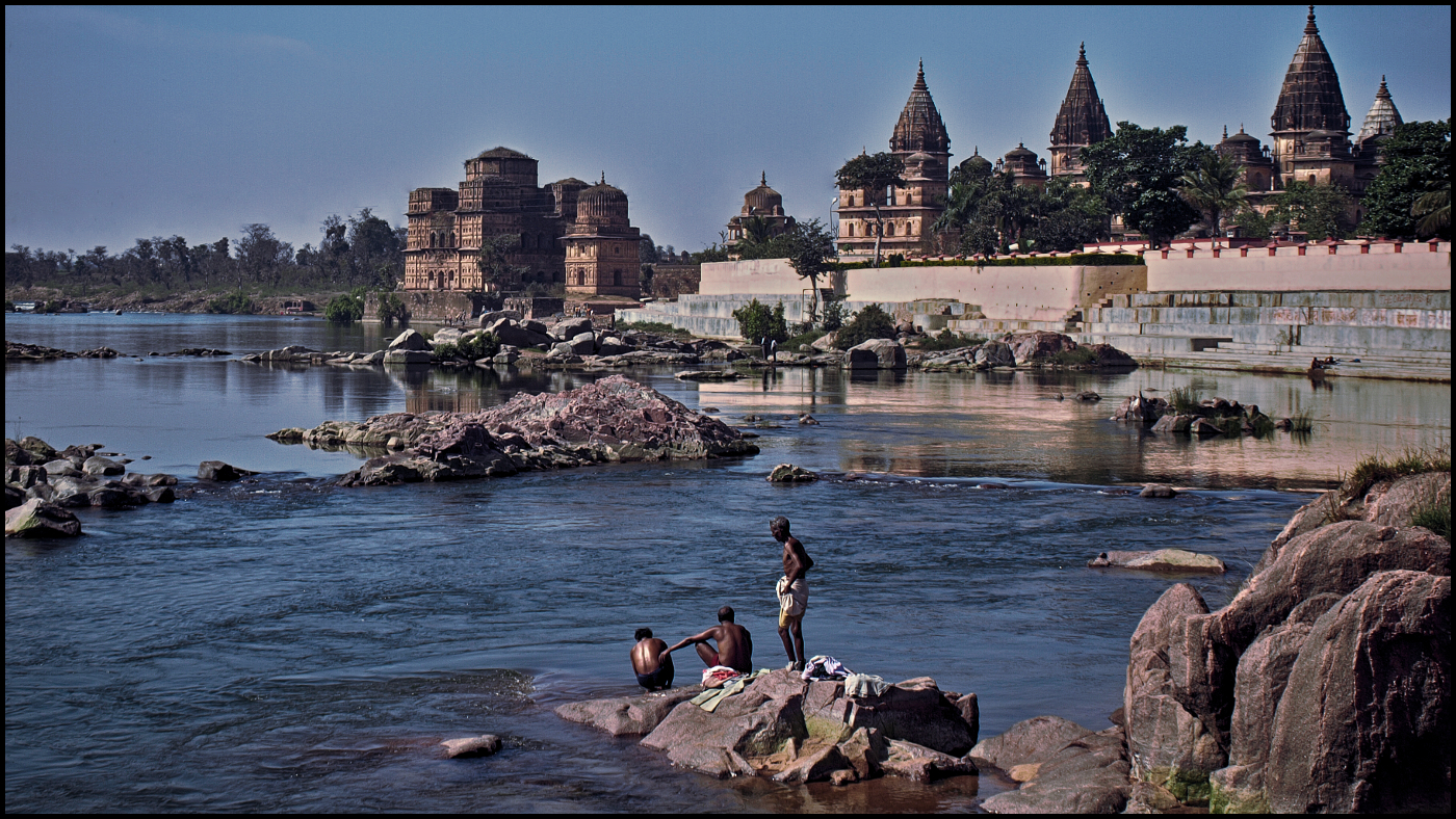"""Washing Clothes in the Betwa"" by Jeremy Richardson"