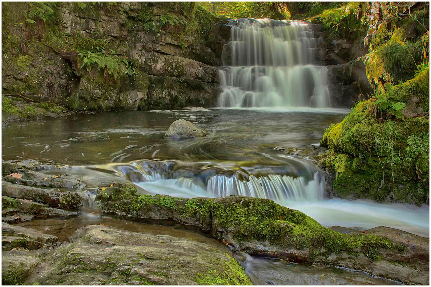 """Sychryd Cascades"" by Gerry Cartwright"