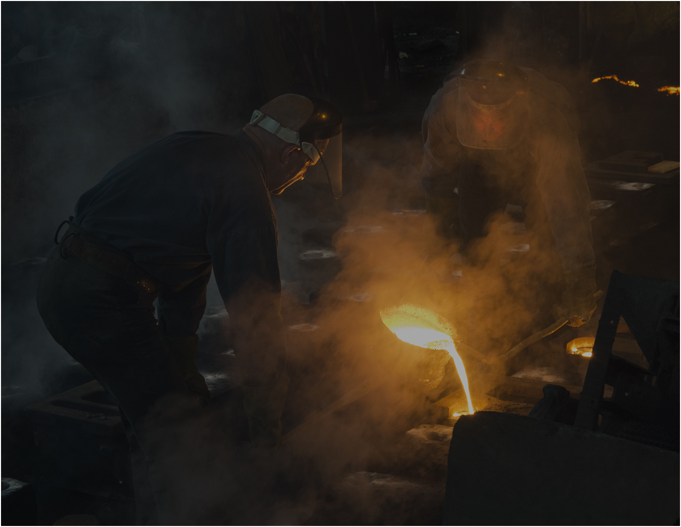 """Iron Casting at Blists Hill"" by Peter Rean"