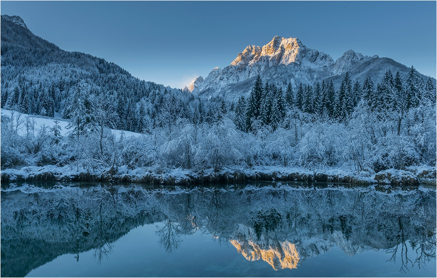 """First Light at Lake Zelenci"" by Ric Harding"