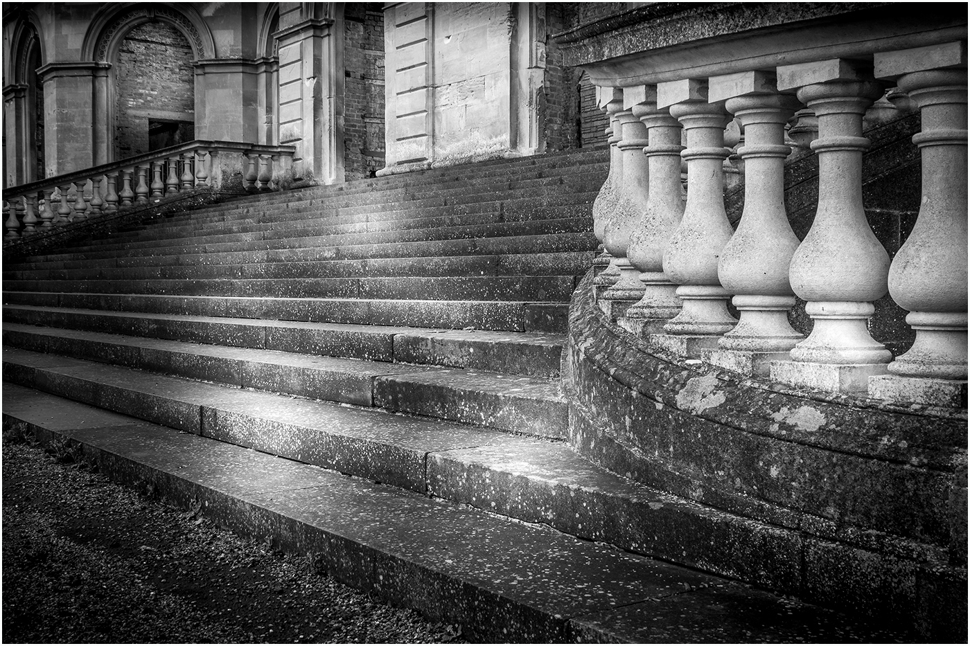 Gerry Cartwright.  Steps at Whitley Court