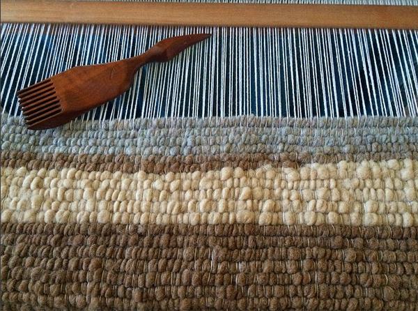 Handwoven Alpaca, Llama & Icelandic Sheep Wool Rug