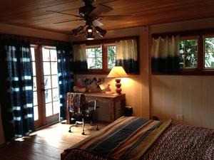 Custom Indigo Shibori Curtains