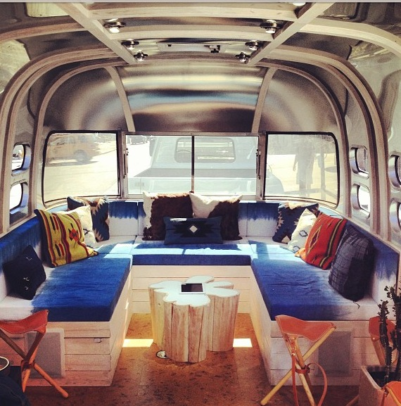Indigo Fabric Levi's Airstream for Station to Station