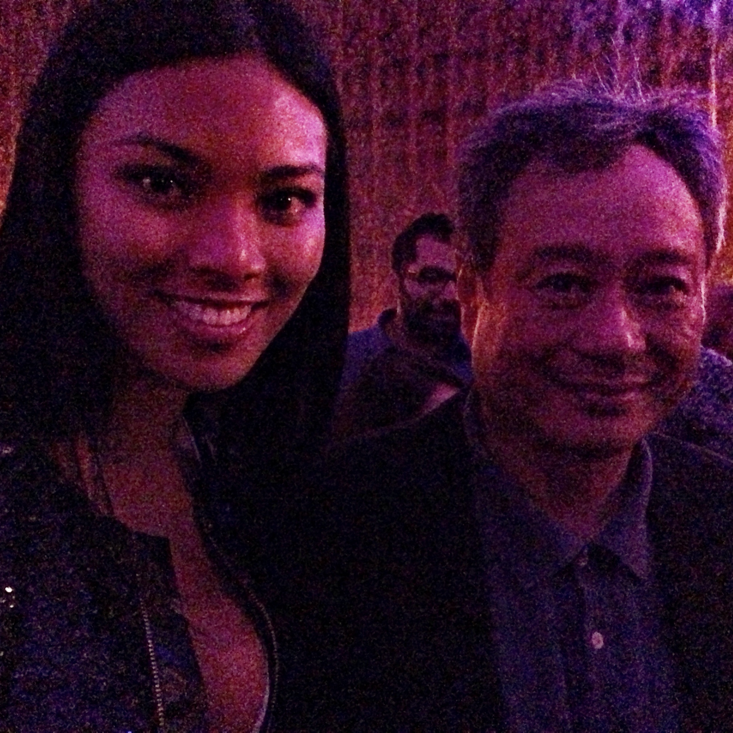Meki Saldana with Ang Lee,  Academy Award Best Director winner for the movie Life Of Pi (2012)