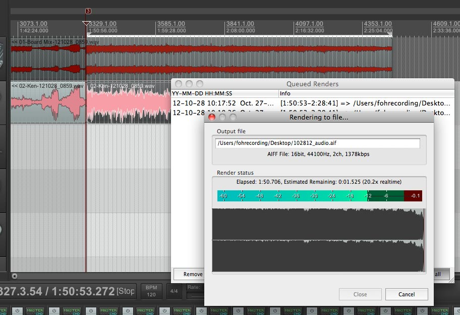 And this is where we end up. Notice the waveform is almost completely solid. The volume varies very little.