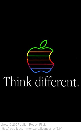 Despite the grammatical challenge, Apple's campaign is a great concept for a company and for life.