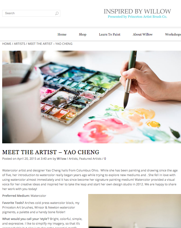 Inspired by Willow  'Meet the Artist' feature