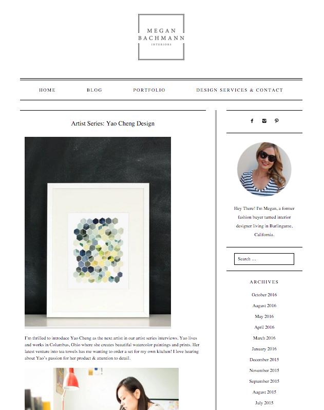 Megan Bachmann  artist series feature