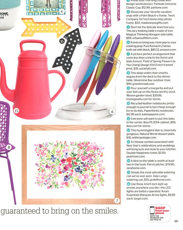 Redbook Magazine - August 2014 feature