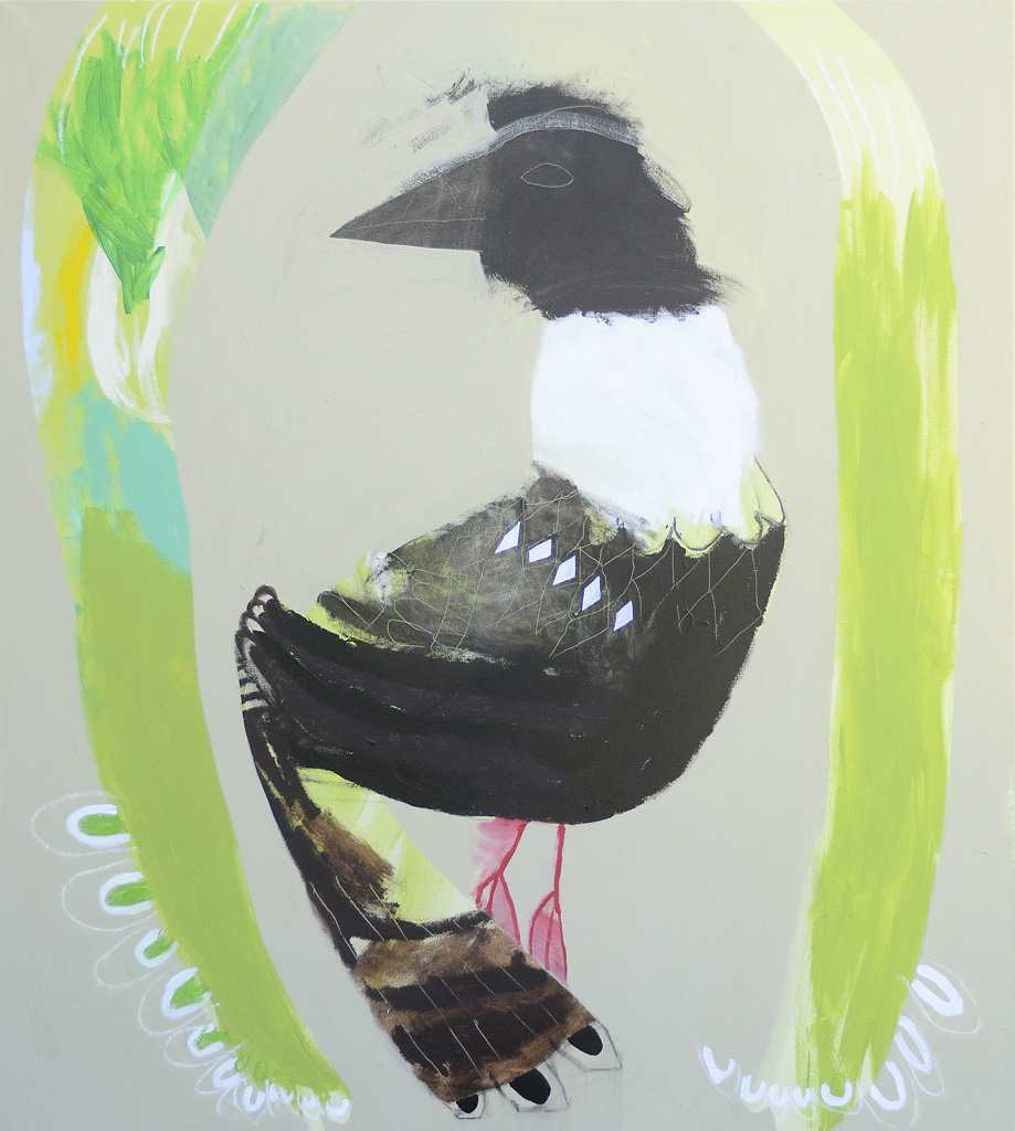 Bower Power  2013 Acrylic on canvas 152 x 137cm