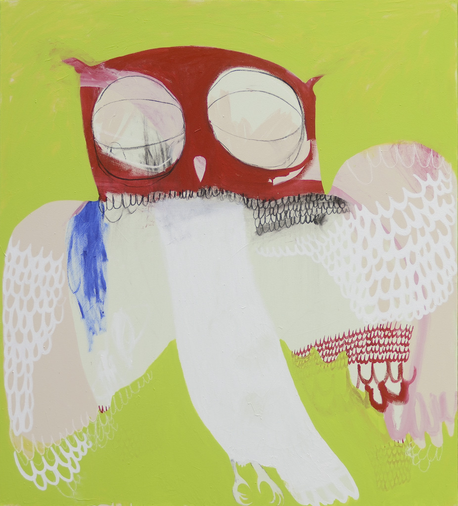 Brother Owl  2013 Acrylic and charcoal on cotton canvas 152 x 137cm