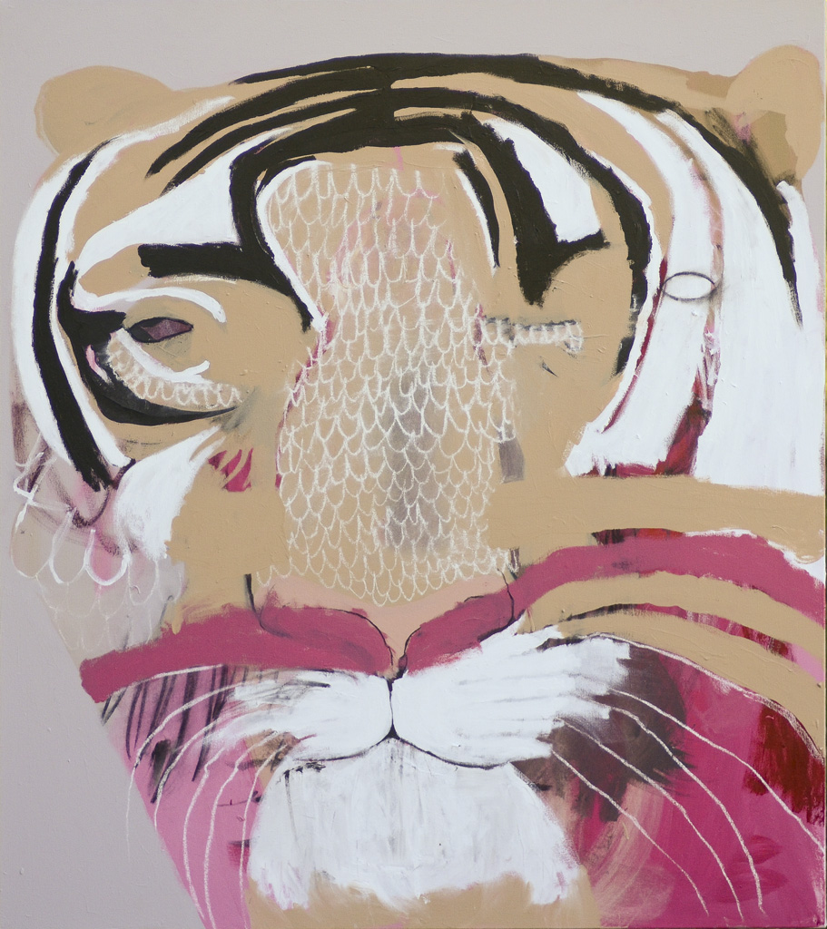 Shere Khan  2012 Acrylic and charcoal on cotton canvas 137 x 121cm