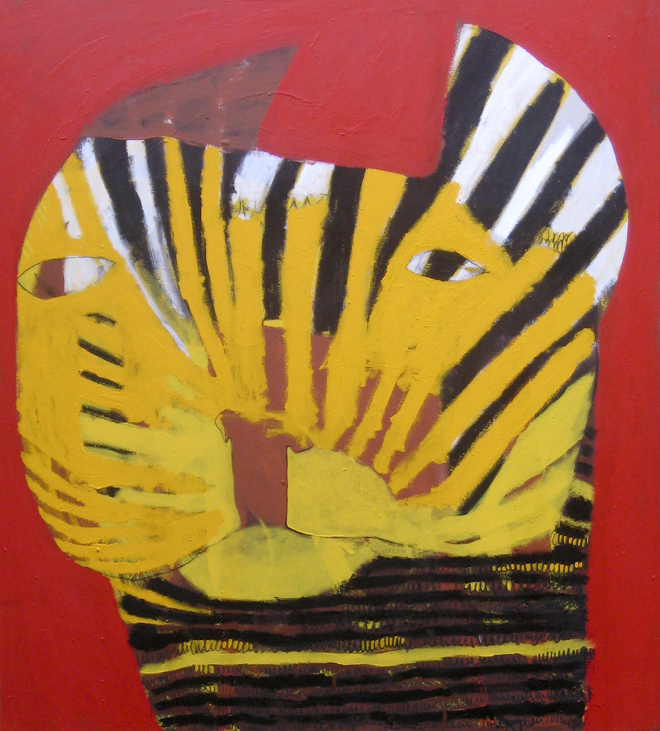 Just Growling  2009 Acrylic and charcoal on cotton canvas 152 x 137cm