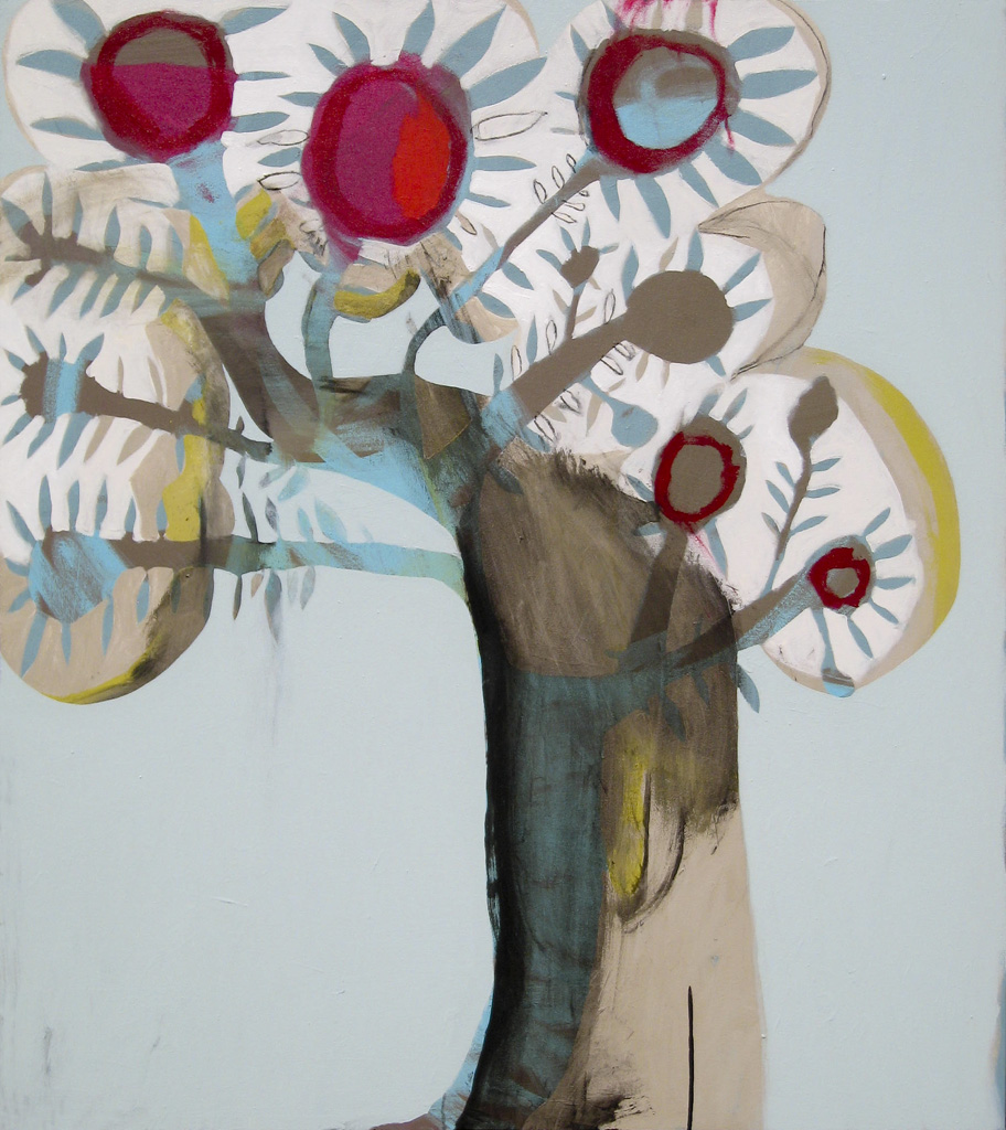 Cherry  2009 Acrylic and charcoal on cotton canvas 137 x 121cm