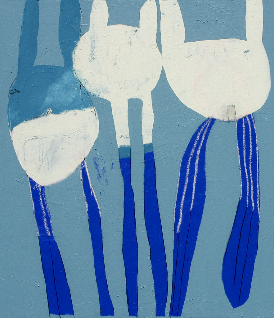 The Winning Trifecta  2006 Acrylic and charcoal on cotton canvas 140 x 120cm