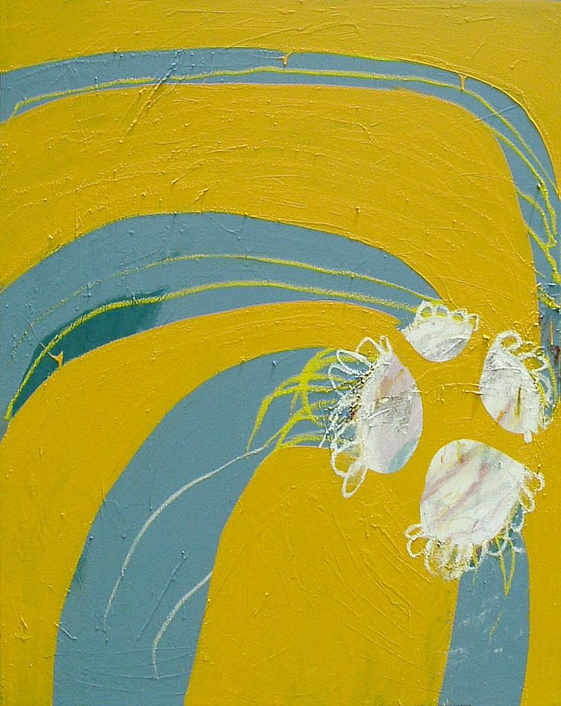 Daisy Arcade  2005 Acrylic on cotton canvas 136 x 105cm