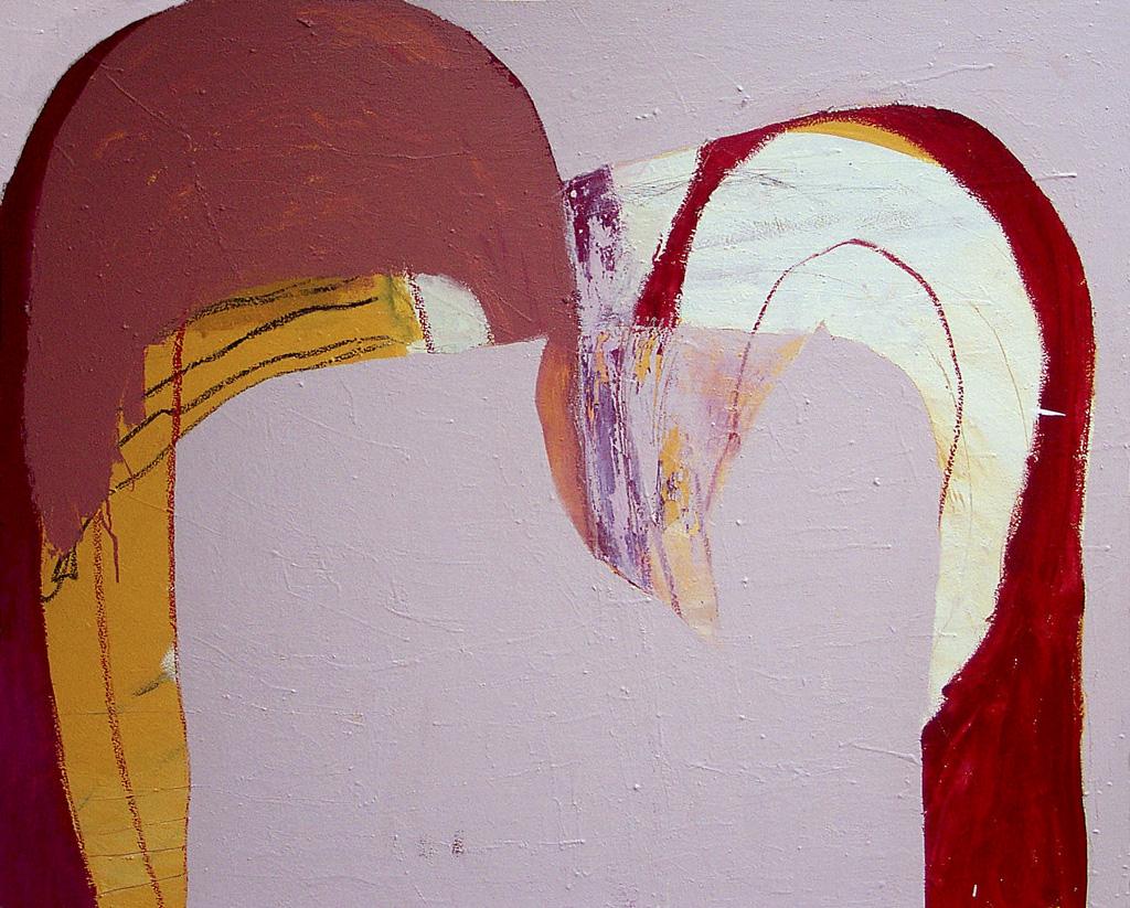Double Rainbow Bird  2005 Acrylic on cotton canvas 13 x 152cm