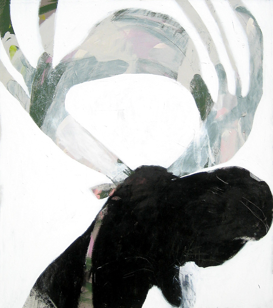 Elk  2010 Acrylic on cotton canvas 137 x 121cm