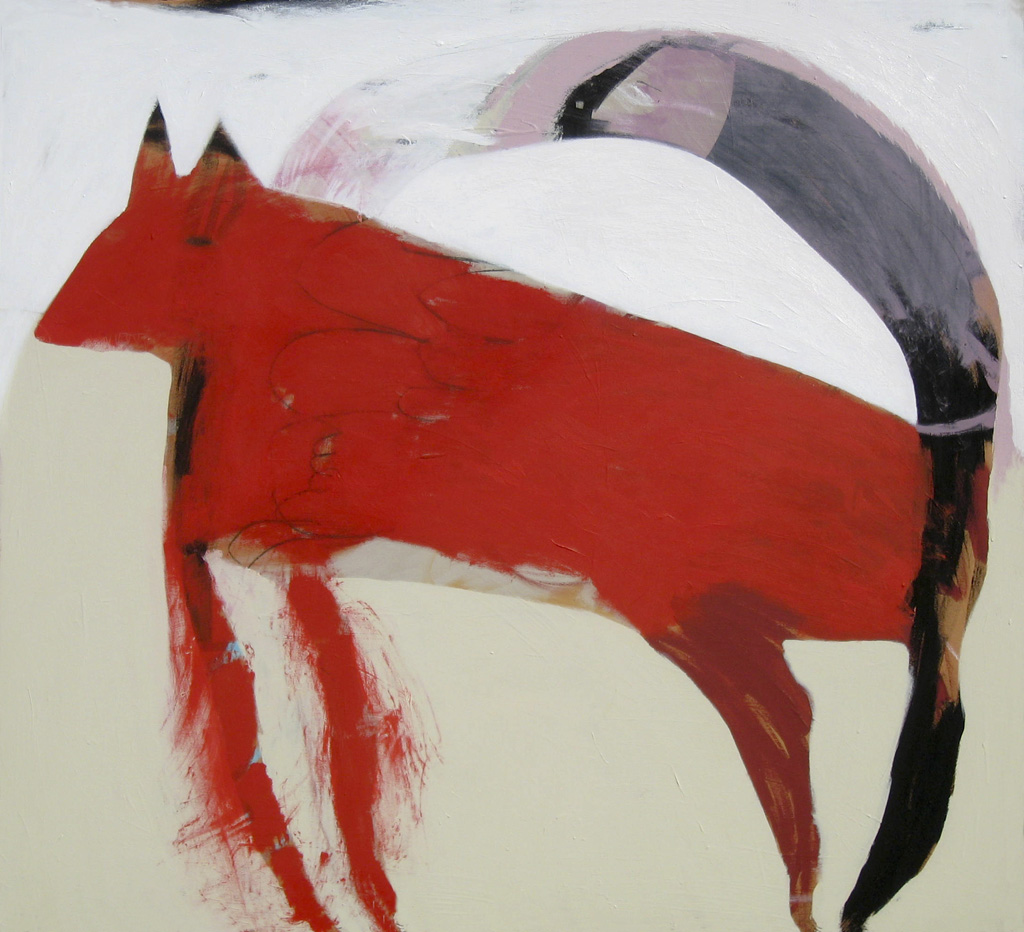 Red Racer  2010 Acrylic on cotton canvas 137 x 152cm