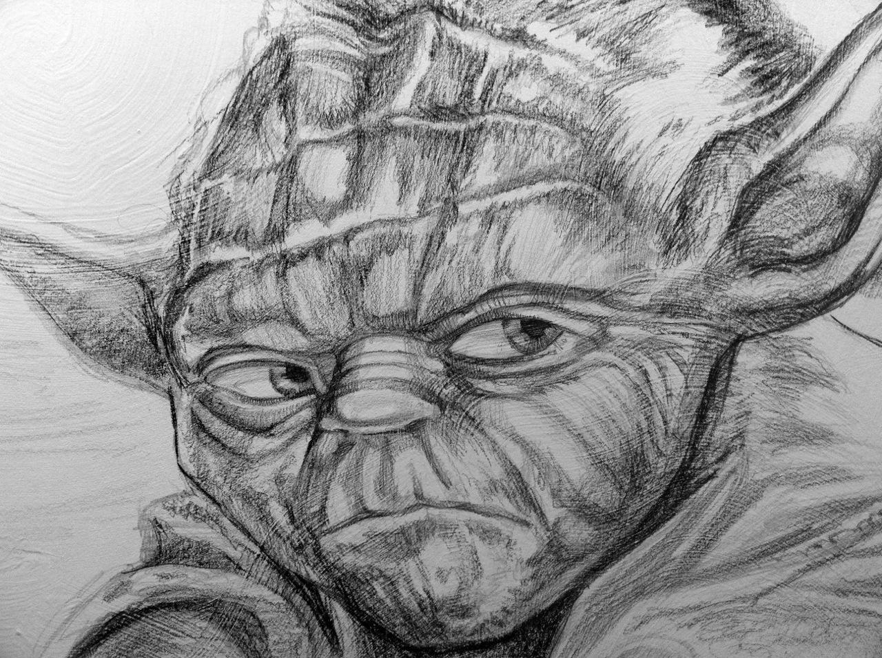 Illustrating Yoda for Star Wars Galaxy