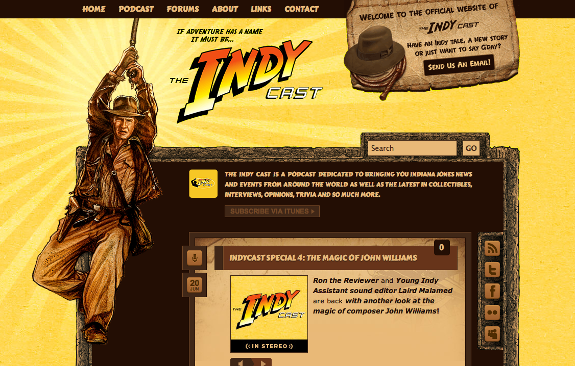 I am please to annoounce that the all new  IndyCast website  is now live! 