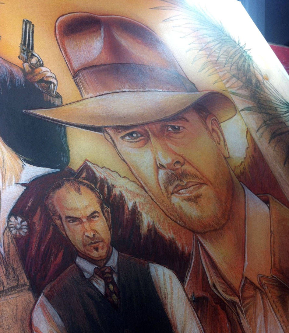 Here's a little sneak preview of what is currently on the drawing board here at PSSTUDIODPI... It's Indiana Jones, but not as you know him!...PS