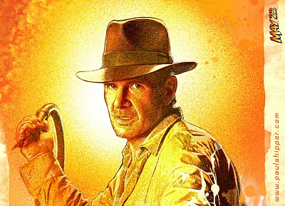 I wanted to mark the occasion with a painting of Indiana Jones... Enjoy the film! ps.