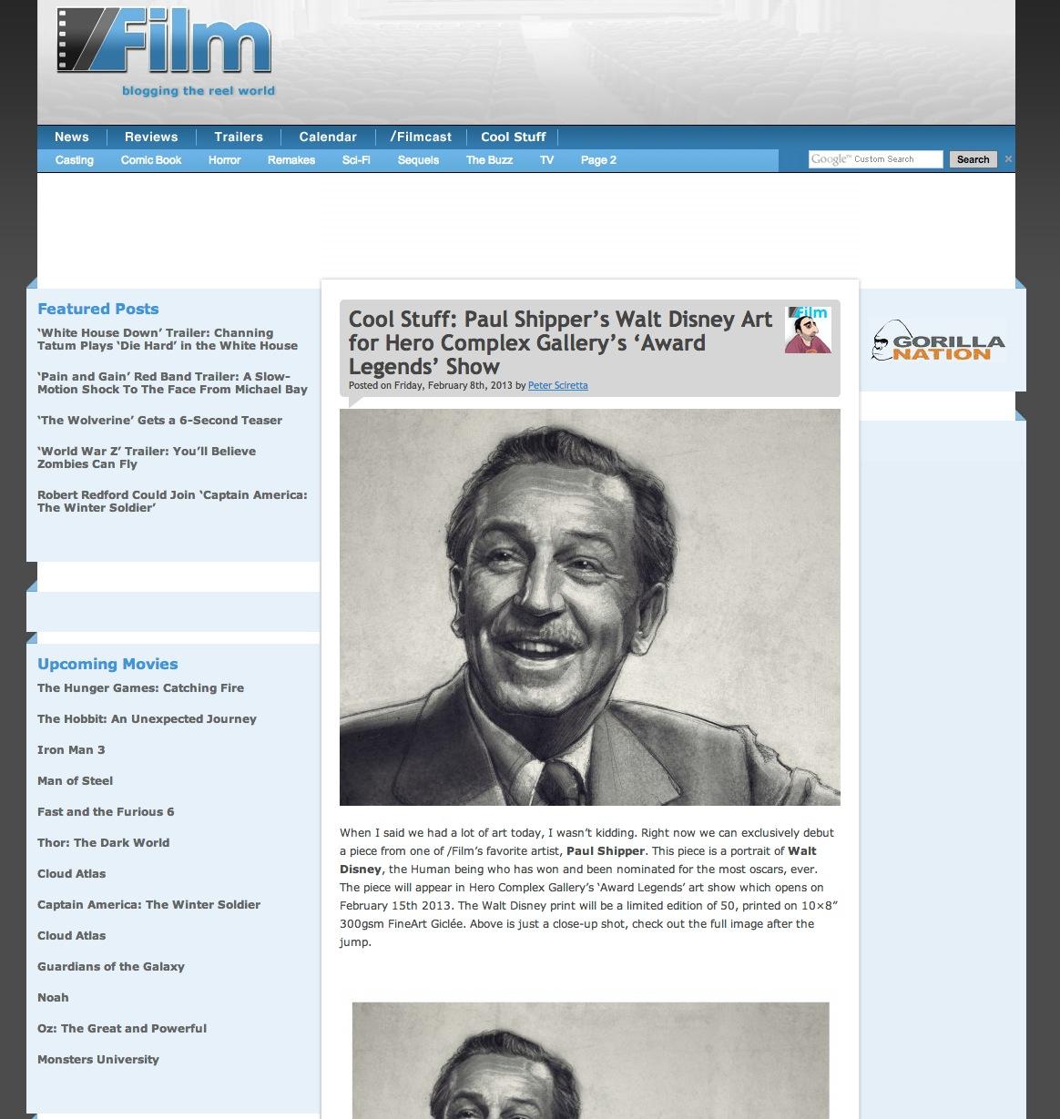 'Walt' on Slash Film