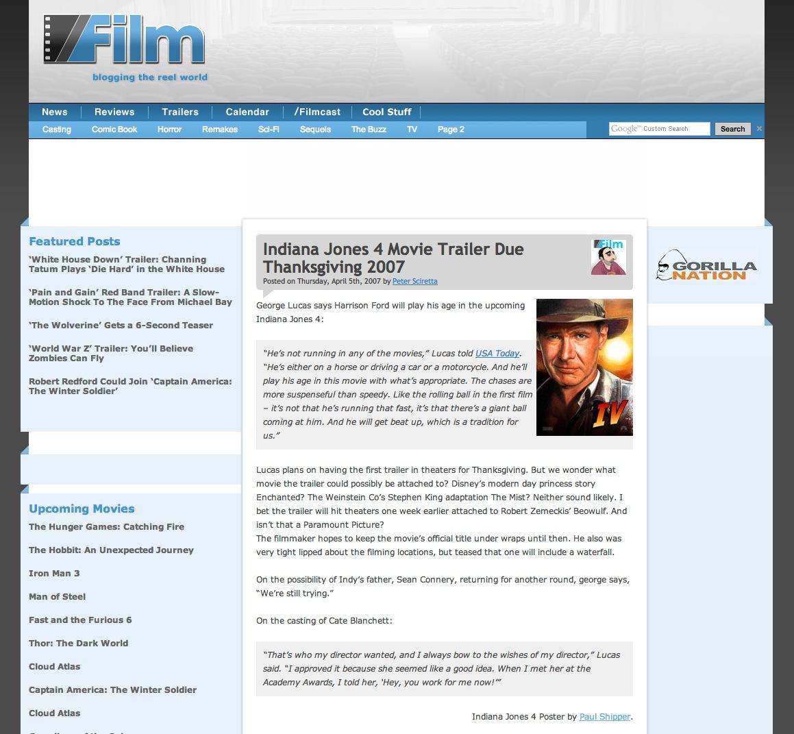 Indiana Jones 4 - Slash Film