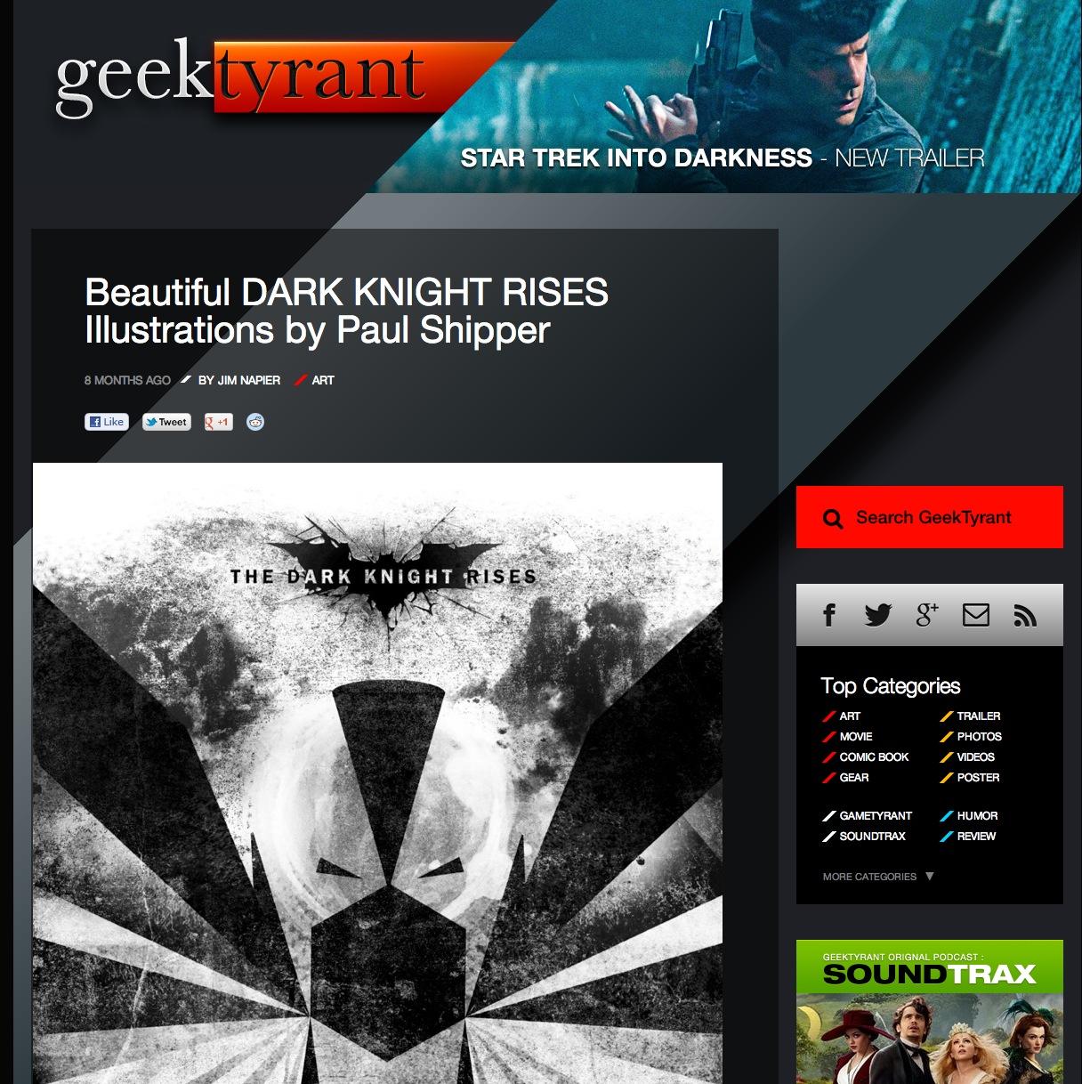 Geek Tyrant - Dark Knight Rises