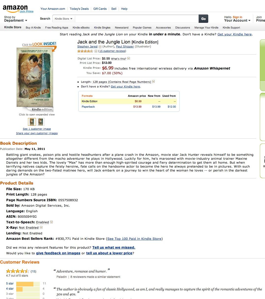 Jack and the Jungle Lion - Amazon.com