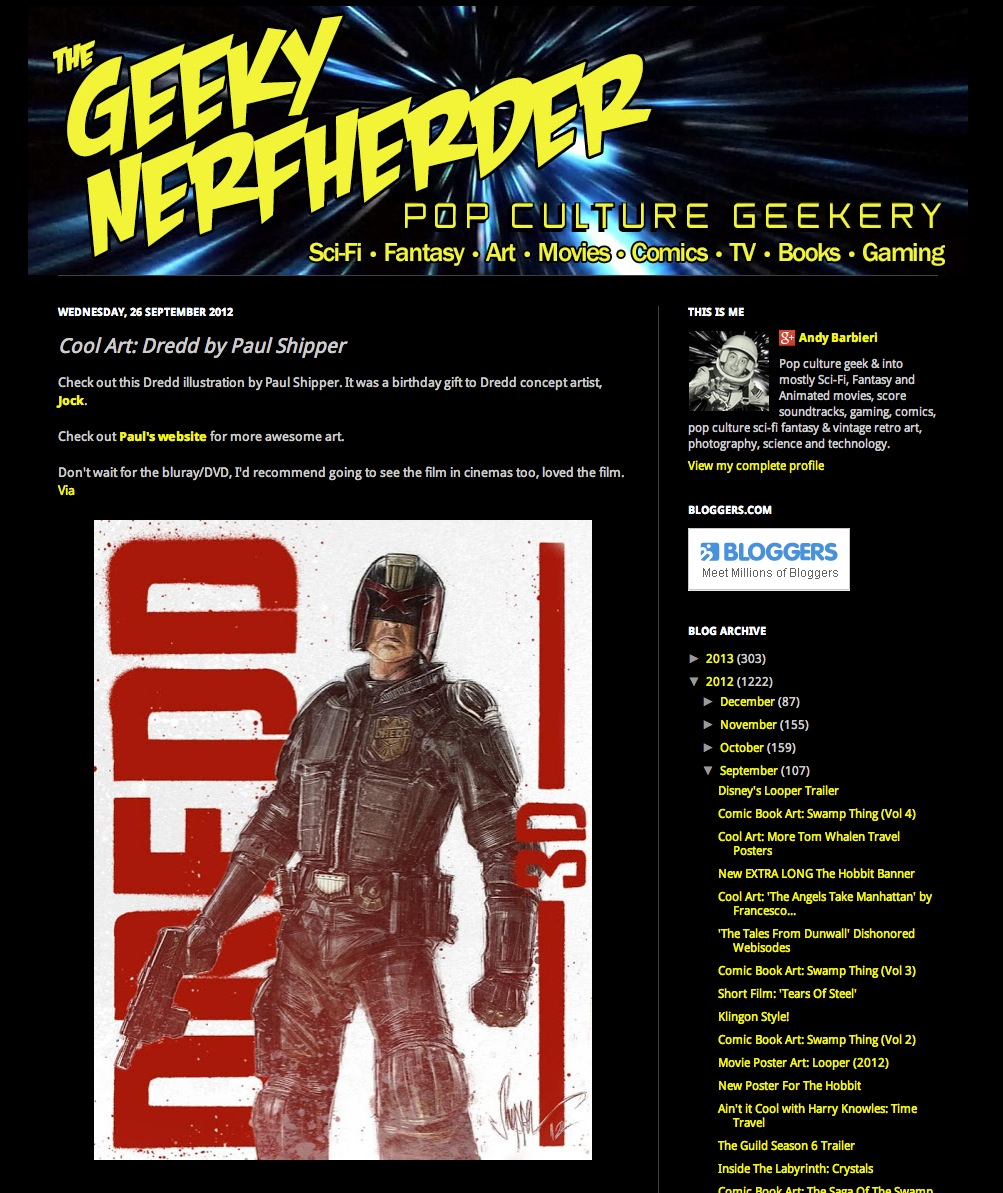 DREDD on the Geeky Nerfherder