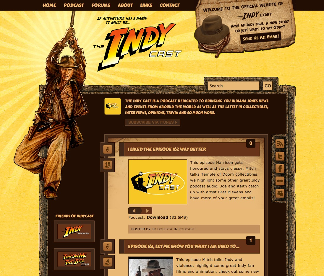 Illustration for the IndyCast Website
