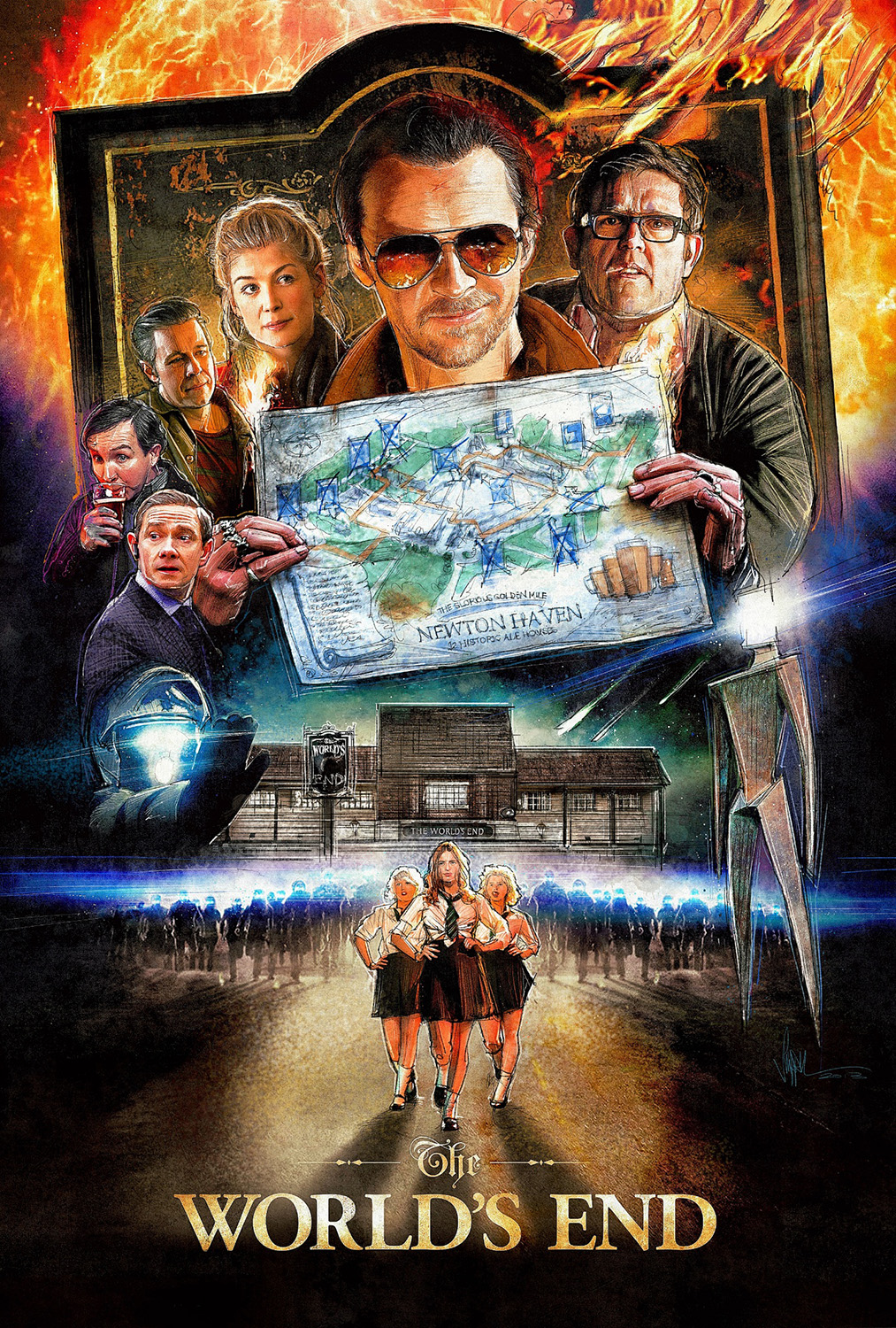The World's End - Colour Rough Comprehensive