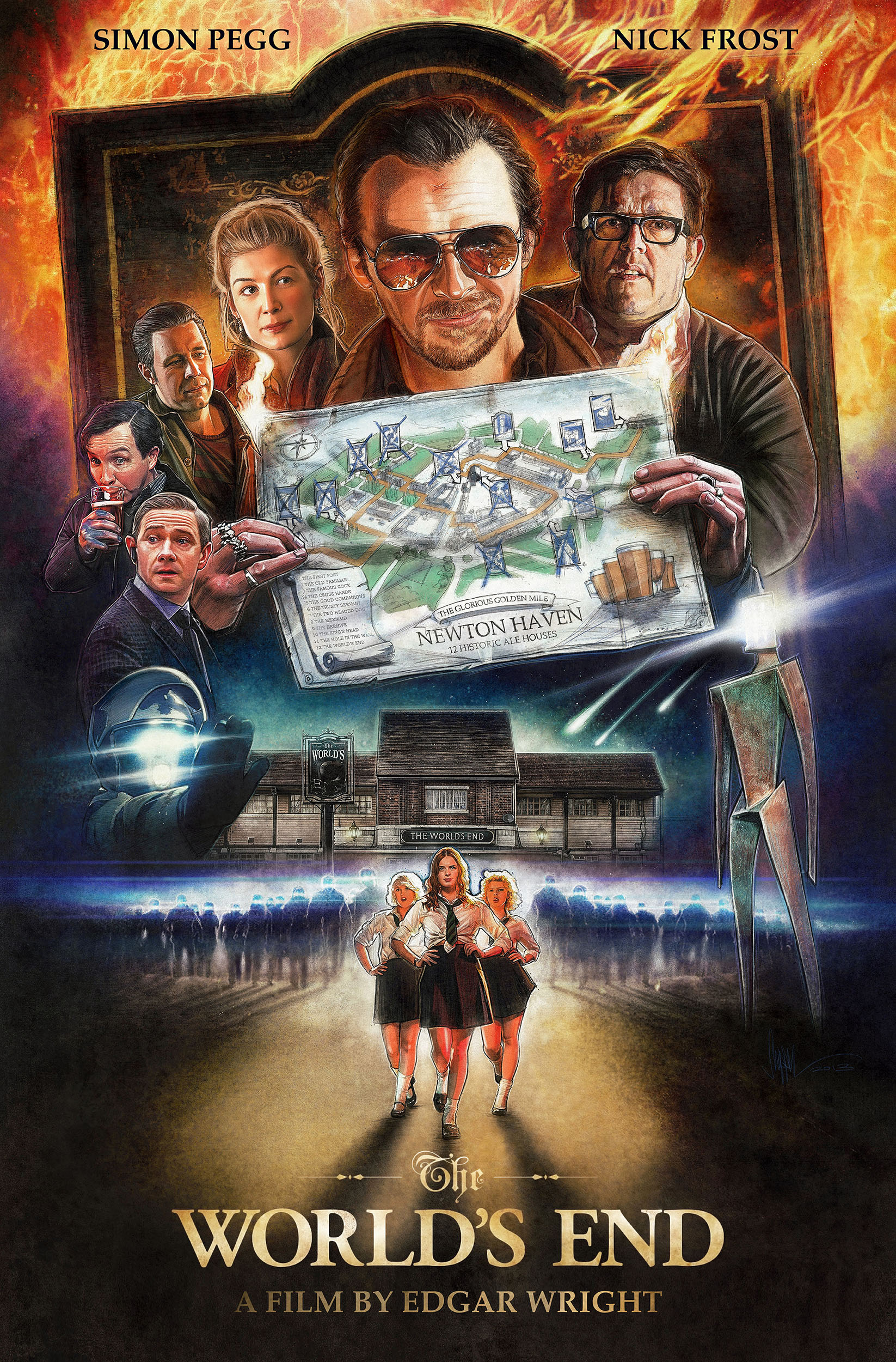 The World's End - Finished Illustrated Poster