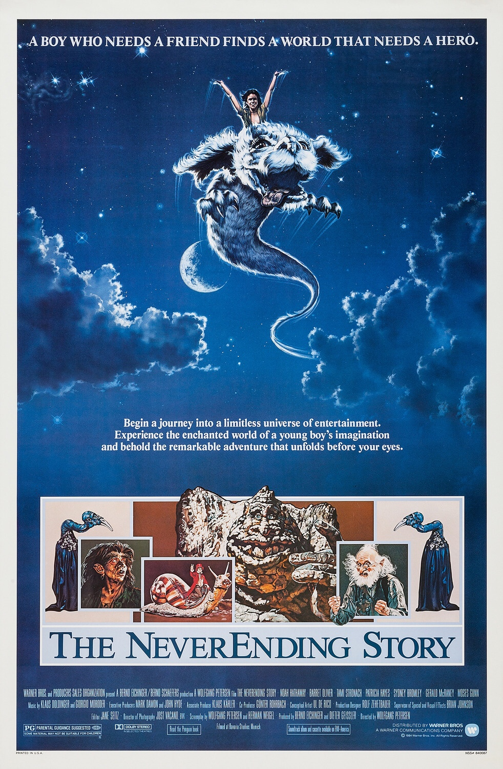 Warner Bros. 1984 original one sheet movie poster. Illustrated by Richard Hescox.