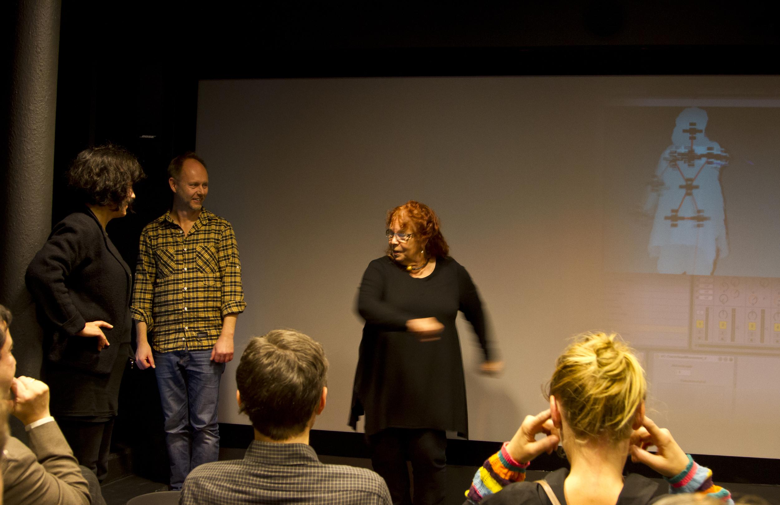 Anna Berglind, jag och besökande Visualiseringscenter C i Norrköping
