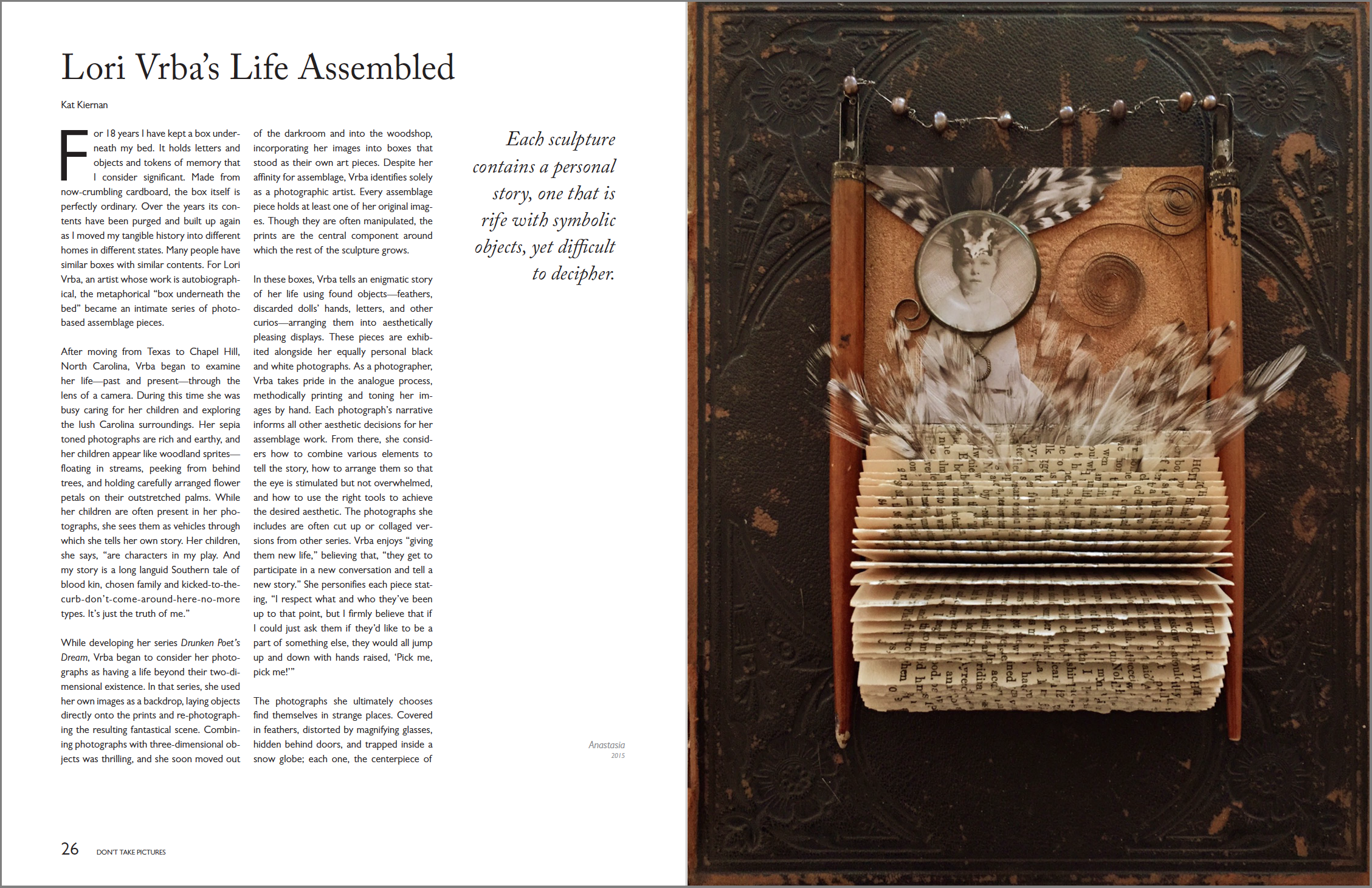 Lori Vrba's Life Assembled  Don't Take Pictures, Issue 5 (September 2015)