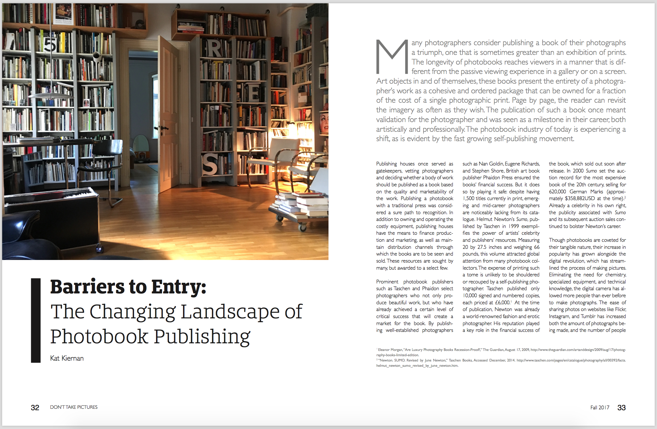 Barriers to Entry: The Changing Landscape of Photobook Publishing  Don't Take Pictures, Issue 8 (March 2017)