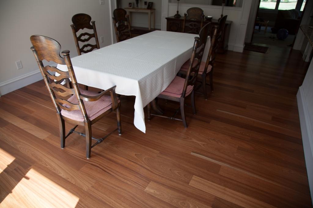 "Sapele Engneered Flooring Prefinished 4-3/4"""
