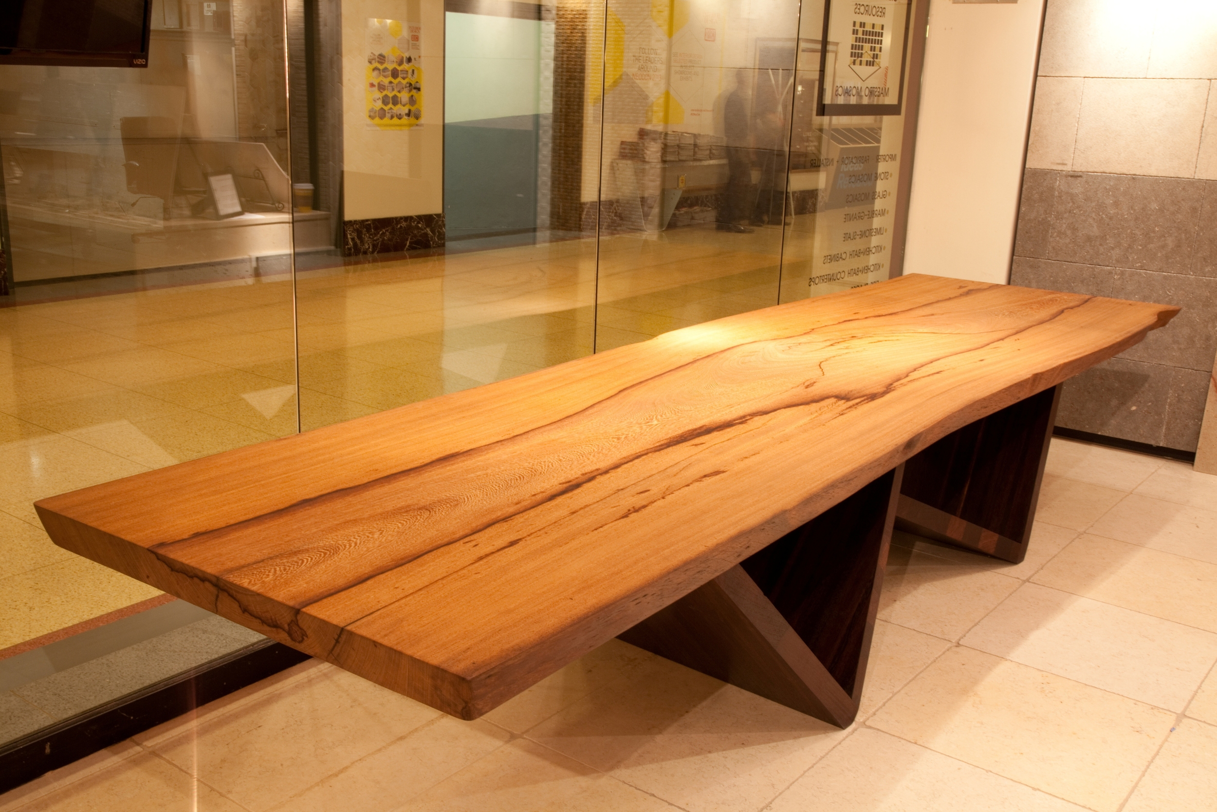 Yaya and Wenge Leg Slab Table