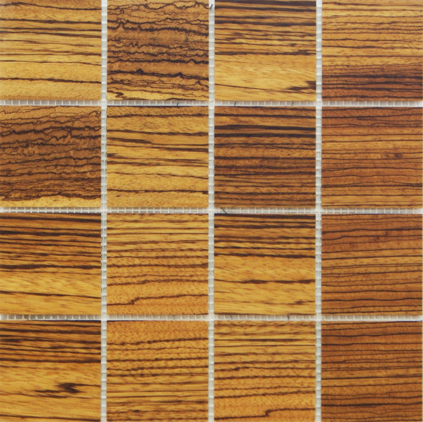 Zebrawood 77mm x 77mm Wood Tile
