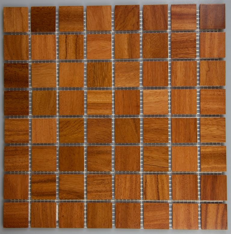Doussie 33.5mm x 33.5mm Wood Tile