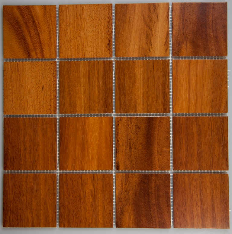 Doussie 70mm x 70mm Wood Tile